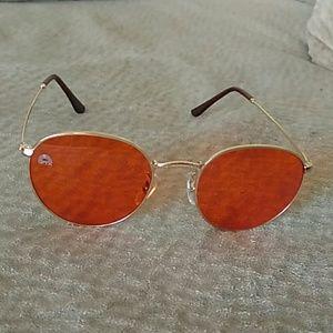 Round orange shades